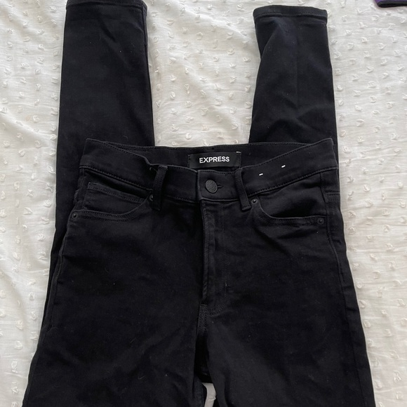 Express High Rise Ripped Skinny Jeans